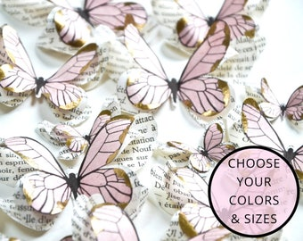 3d wall decals nursery, pink and gold party decor, butterfly party decoration, blush and gold wedding theme, romantic wedding decoration