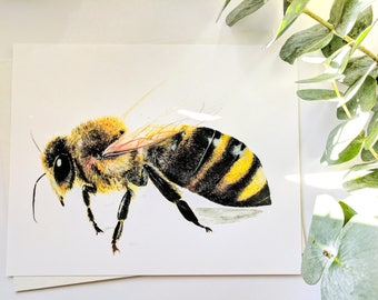 8x10'' Bee Prints, Honeybees, Prints, Bee Art, Save The Bees, Original Art, Artwork