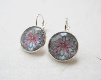 Mandala earrings, yoga earrings, mandala jewelry