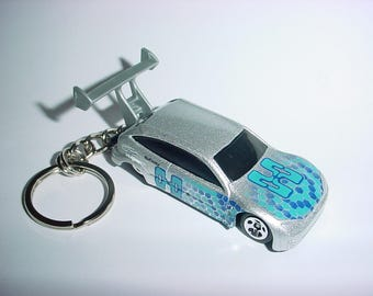 3D Ford Focus custom keychain by Brian Thornton keyring key chain finished in silver metallic color trim st drag racer