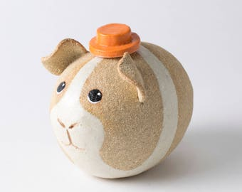 Ceramic Guinea Pig, Guinea Pig Decor, Guinea Pig Lover, Guinea Pig Home Decor, Guinea Pig Gift