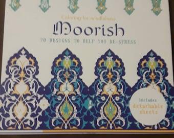 Indian Style Design Adult Coloring Book 70 Designs Moorish