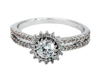 Fashion glamor sparkling crystal ring