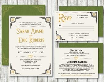 Legend Of Zelda 'Hylian Heart' *Digital Printable Wedding Invitation Set* PACKAGE & EVENT Options