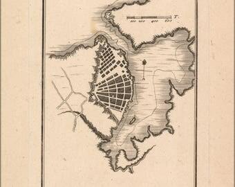 Poster, Many Sizes Available; Map Of Havana Cuba 1755