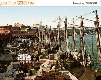 20% Off Sale - Poster, Many Sizes Available; Muelle San Francisco, Havana, Cuba, 1904 #031215