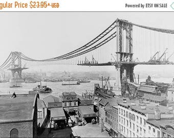 20% Off Sale - Poster, Many Sizes Available; Manhattan Bridge, March 23Rd, 1909 New York City