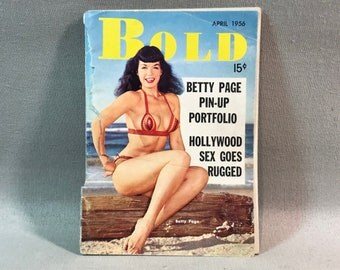 BOLD Pin-Up Magazine April 1956 Betty Page Hollywood S*X and a Whole Lot More
