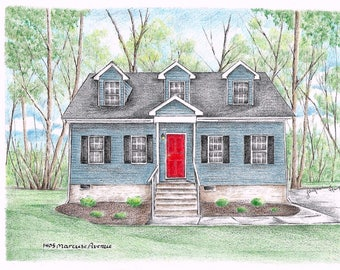 House Drawing / House Portrait / House Sketch