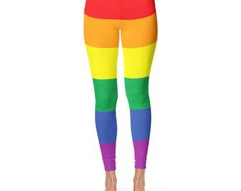 Gay Pride Leggings, LGBT Clothing, LGBT Pride, LGBTQ Pride, Lesbian Pride, Gay Pride Leggings, Lesbian, Gay Pride, Cut And Sew Leggings
