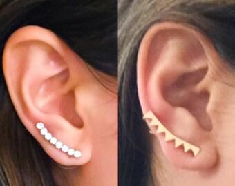 BESTSELLER! Dainty Ear Climber Earrings, Crawler Earrings, Ear Pins, Ear Sweeps, Ear Jackets, Simple Gifts, Jewelry Gifts, Unusual Jewelry