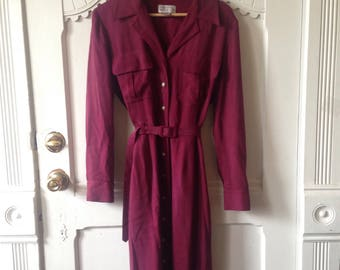 Womens silk long sleeve dress