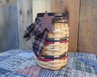 Handwoven Tea Light Basket