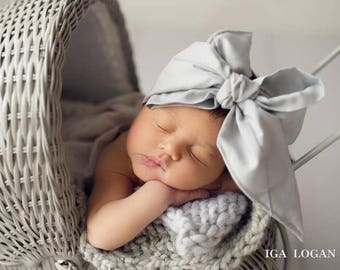 DOVE GREY Gorgeous Wrap- headwrap; fabric head wrap; grey head wrap; boho; newborn headband; baby headband; toddler headband