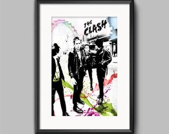 The Clash Wall Art Print / Poster Original Design A3, A2, A1, A0