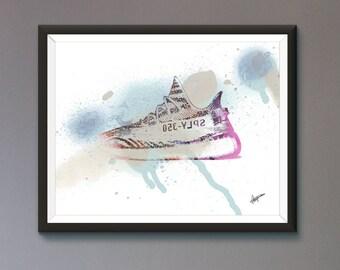 Yeezy / Adidas / Trainer / Sneaker Wall Art Print / Poster Original Design A3, A2, A1, A0