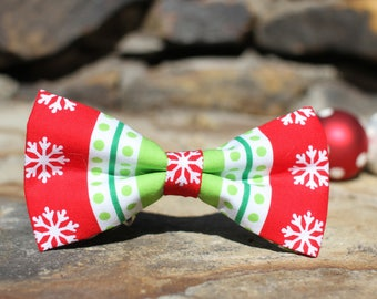 Christmas Bow Tie | Dog Bow Tie | Boys Bow Tie | Mens Bow Tie | Gift for Him | Christmas | Winter | For Him | Christmas Photo