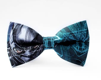 Black Panther Bow Tie | Marvel Bow Tie | For Him | Bowtie | Dog Bow Tie | Mens Bow Tie | Boys Bow Tie | Superhero | Wedding Bow Men