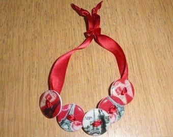 """EIFFEL Tower love letter"" bracelet"