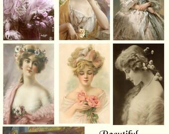 Vintage Beauties Cut & Create Ephemera