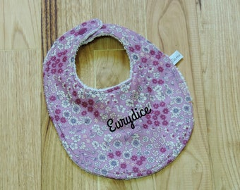 baby girl personalized bib