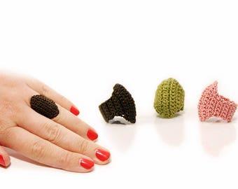 ring pattern - Crochet pattern - jewelry pattern - diy gift ideas - crochet ring pattern - oval ring - instant download