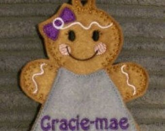 Personalised Bag Charm Gingerbread