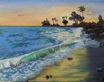 Kaui Sunset,, Original Oil Painting, Museum Wrap