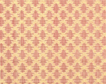 SCALAMANDRE ETHNIC CHIC Ikat Kilims Strie Silk Linen Damask Fabric 10 Yards Linen On Tea Rose Strie