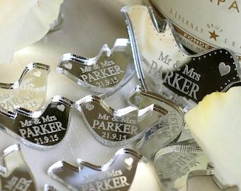 Personalised Wedding Table Confetti Favours, Dove Wedding Decorations, Dove Table Scatter, Wedding Decor, Table Confetti, Mr & Mrs Favors