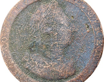 1813 One Penny Isle of Man George III Coin
