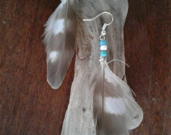 Feather Earrings, Boho Earrings, Boho Jewelry, Feather Jewelry, Bohemian Jewelry, Bohemian Earrings.