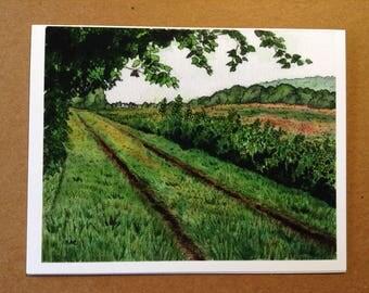 Appalachian Trail Greeting Card - New Jersey - Blank Fine Art Note Card