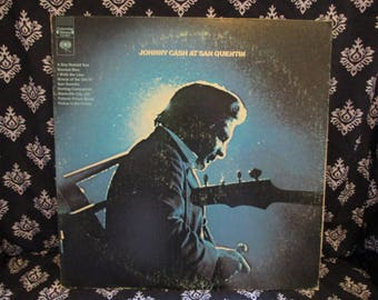 Johnny Cash at San Quentin Record LP Album
