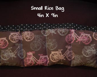 Bicycle lover; Medium Booboo; 6 x 10; Heat Or Cold Therapy; Freezable; Polkadot; Boo Boo Rice Bag; Natural Headache help