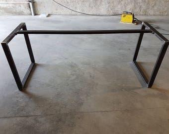 Pied de table industriel etsy for Pied en bois pour table