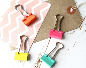 Colourful  Planner Clips/ Neon Binder Clips/ Journalling clips