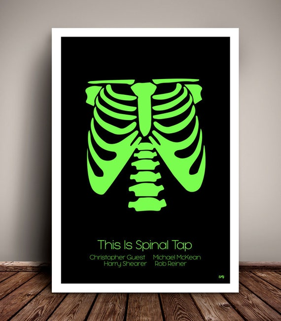 This Is Spinal Tap // X-Ray Skeleton T_Shirt // Minimalist Movie Poster // Unique A4 / A3 Art Print