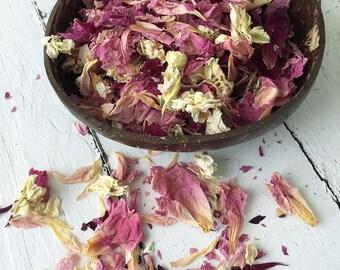 Natural Flower Petal Confetti / Biodegradable / Dye Free / Petal Blend F