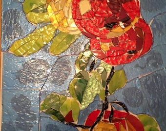 Apples Stained Glass Mosaic