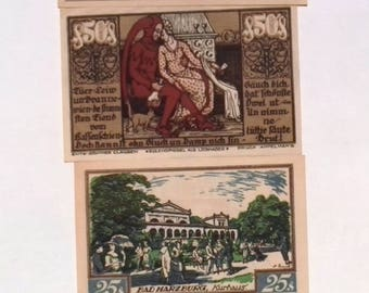 1921 Germany BRAUNSCHWEIG set of 10 25 50 and 75 Phennig Notgeld