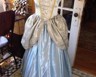 Cinderella costume with separate crinoline, tiara and gloves