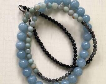 Benito Playero Gemstone Necklace, statement necklace, good vibrations