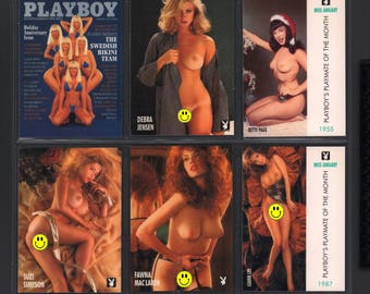 MATURE - Playboy Trading Card January Edt. 1992 - Promo 6 Card Set in Folder Betty Page
