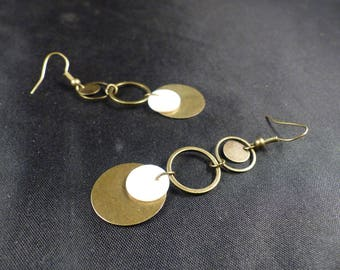 Vintage earrings ~, ~ white circles ~ ~