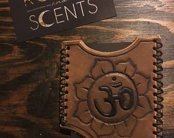 Leather Om Business Card Holder