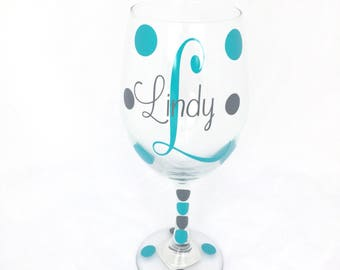Personalized Wine Glasses, Personalized Bridal Party Wine Glasses, Bridal Party, Monogram Wine Glasses