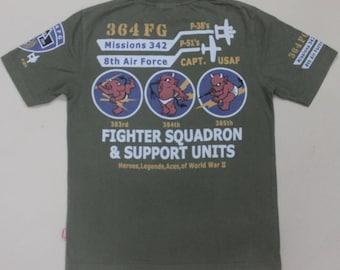 RARE TED COMPANY tedman lucky devil usaf air force t shirt mccoy buzz rickson
