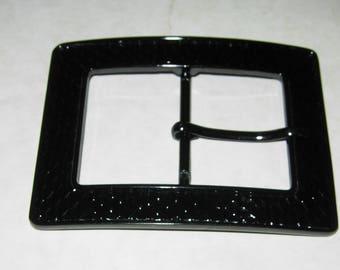Black Square Woman's Belt Buckle, Large Size