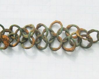 Ancient bronze Viking chain mail armour 11-13 AD